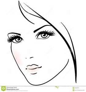 beautiful woman face stock vector image of artistic