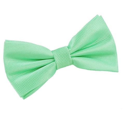 s solid check mint green bow tie