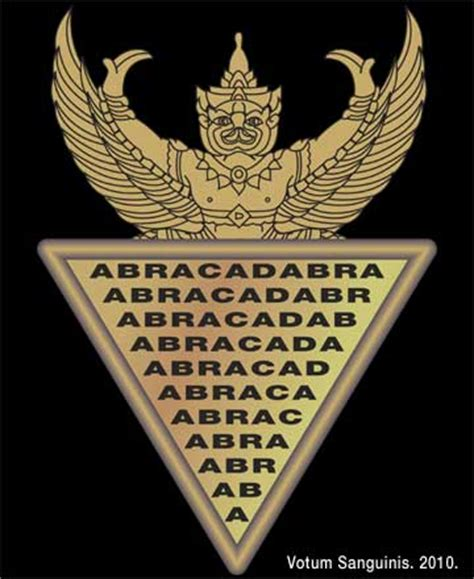 abracadabra magic logo an ancient demonic spell dark