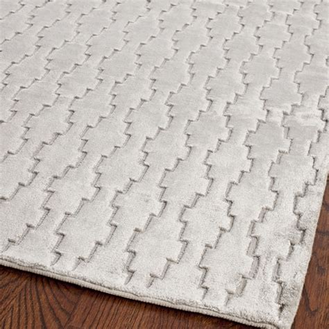 safavieh viscose rug safavieh knotted mirage grey viscose rug 2 x 8 14034853 overstock shopping