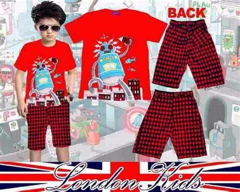 Baju Anak Laki Laki Setelan 4in1 Kotak Merah Dasi jual baju setelan anak cowok laki lk robot