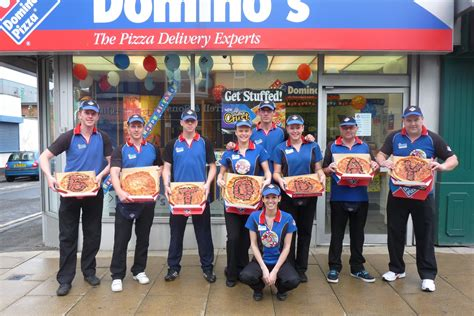 domino pizza online delivery domino s celebrates five years in hartlepool