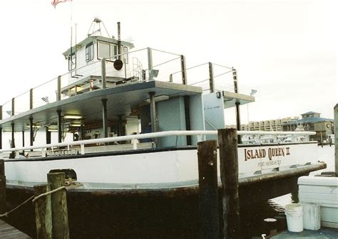this is the boat we fish on the island queen ii moored at - Glass Bottom Boat Tours Port Aransas