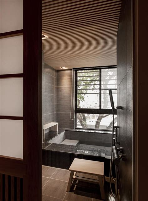 Modern Japanese Bathroom Modern Bathroom Modern Bathroom With Tile Bathtub In
