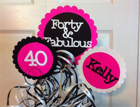 40th Bday Decorations by 40th Birthday Decorations 3 Centerpiece Sign Set With