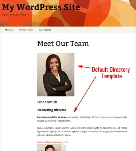 staff bio template how to add a staff directory in wpcompendium org