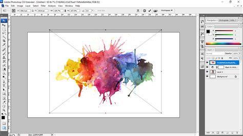 tutorial watercolor dengan photoshop tutorial cara membuat efek watercolor splash di adobe