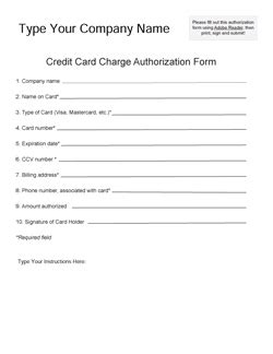 need a fillable credit card authorization form icandy