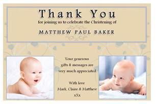 10 personalised christening baptism thankyou photo cards n193