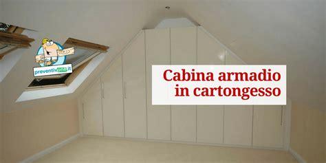 armadio in cartongesso costi cabina armadio in cartongesso costo e vantaggi preventivone