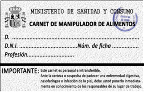 carnet manipulador de alimentos online normativa del manipulador de alimentos y su historia