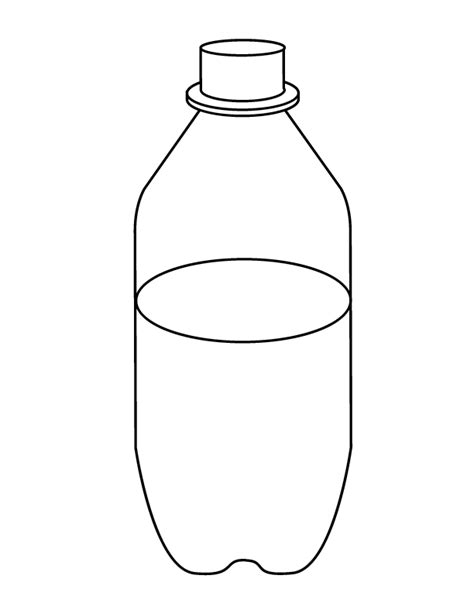 Bottle Coloring Page Image sketch template