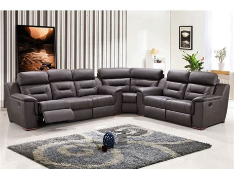 modern leather sectional sofa with recliners becky modern recliner sectional sofa