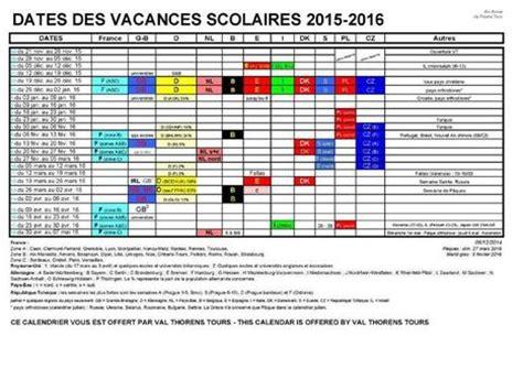 Calendrier Scolaire Belgique 2015 Et 2016 Calendrier 2015 2016 Des Vacances Scolaires Eur