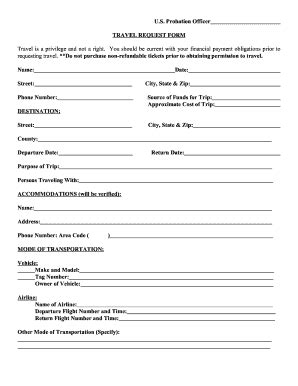 Presentence Report Ad Hoc Report Request Form Template