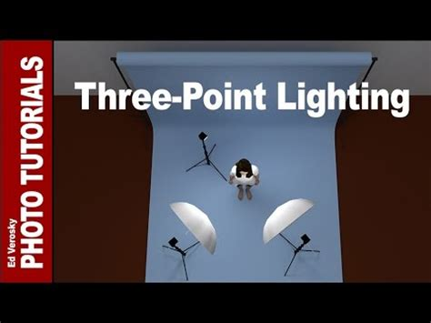 three point lighting setup three point lighting for portrait photography youtube