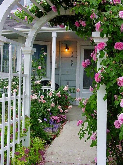 Pretty Garden Trellis A Pretty Arbor Entryway To The Cottage My Sweet Garden