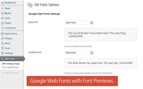 tutorial web fonts how to add google web fonts with font preview in wordpress