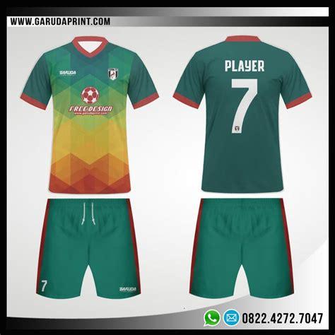 jersey futsal desain depan belakang kerah desain baju bola futsal 100 greenation garuda print