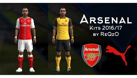 Arsenal Pes | pes modif pes 2013 arsenal london 2016 2017 kits by reqzo