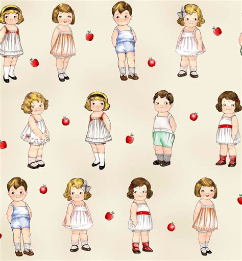 How To Make Fabric Paper Dolls - fabric paper dolls school house 803 24 32 newcastle fabrics