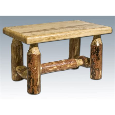 montana woodworks montana woodworks 174 glacier country footstool 178327