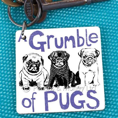 grumble of pugs grumble of pugs key ring pack of 6 perkins and morley ltd