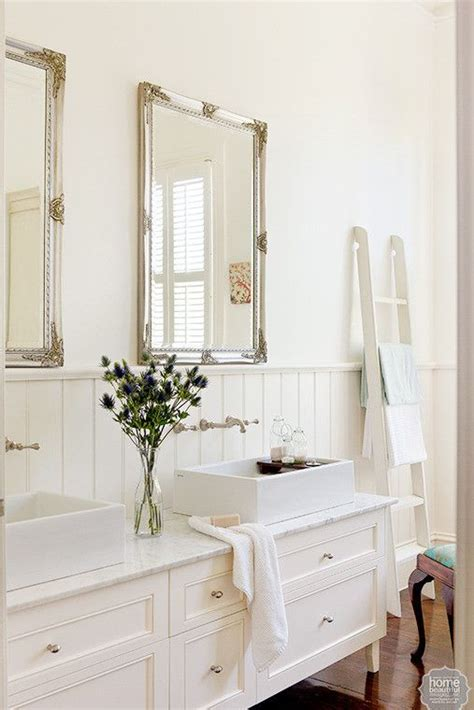 cottage mirrors for bathrooms new life vanities and double vanity on pinterest