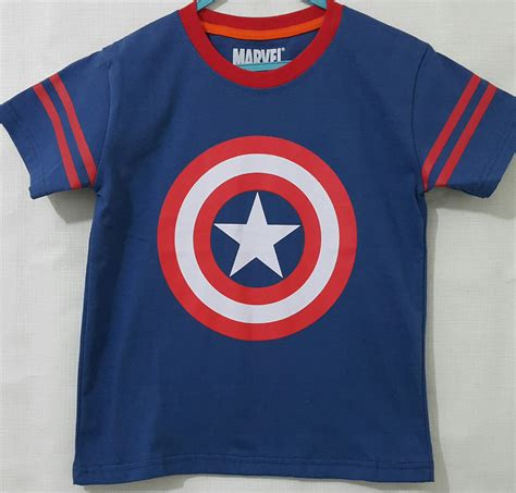Kaos Cotton Combed Captain America by Kaos Anak Captain America Logo Marvel 1 6 Grosir Eceran