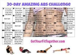 30 Day Ab Challenge Calendar Ab Challenge Calendar Jpg 960 215 690 Workout Inspiration