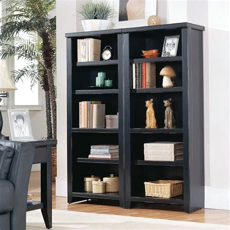 bookshelves black kathy ireland home by martin tribeca loft small bookcase in black tl600