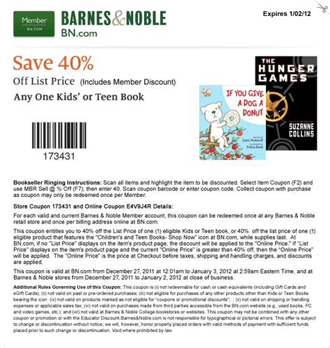 Where Can You Get Barnes And Noble Gift Cards - barnes n nobles coupon codes coupon codes blog