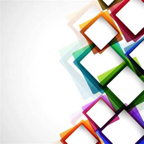 layout brosur psd colorful abstract background with squares vector free