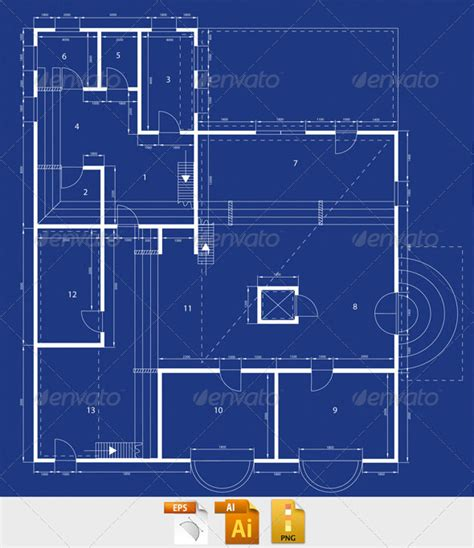 building blueprint blueprint graphicriver