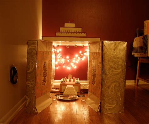 how to decorate a temple at home cardboard temple shrine at home 7