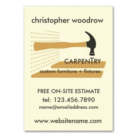 carpentry business card templates free 304 best images about carpenter business cards on