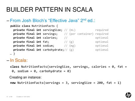 builder pattern in java joshua bloch all about scala