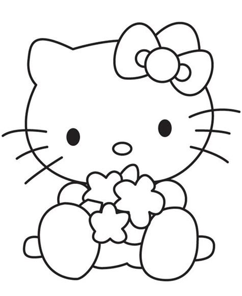 超萌可爱凯蒂猫卡通简笔画图片大全 3 卡通动漫简笔画 5068儿童网 Hello Princess Coloring Page Free Coloring Sheets