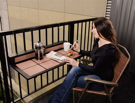 Balcony Railing Table by Tavolo Balcony Rail Table Foldable Convenient
