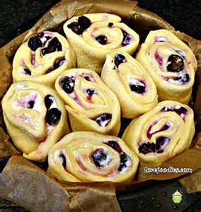 Blueberry Cream Cheese Swirl Bread