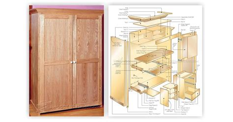 wardrobe cabinet plans computer armoire plans woodarchivist