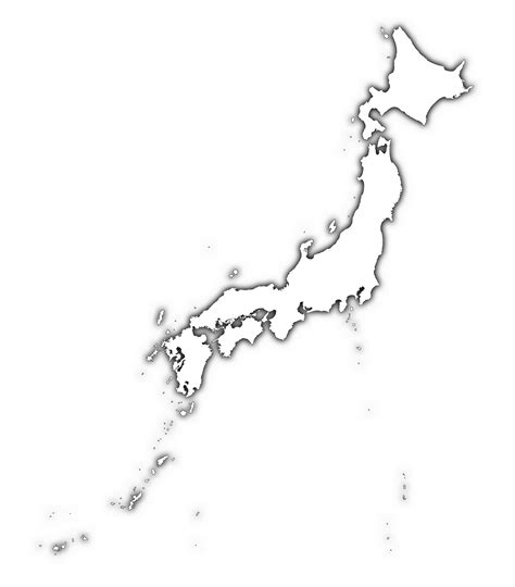 Japan Map Cities Outline by Japan Map Blank Political Japan Map With Cities