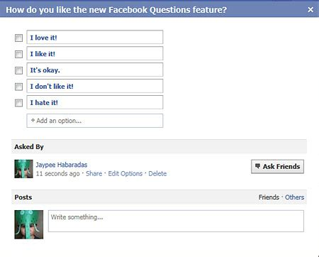 facebook questions for friends create polls get answers refusing to ask for help when you need i by ric ocasek