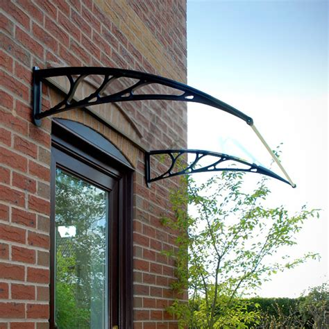 decorative canopy give an attractive look to your home entrance with door