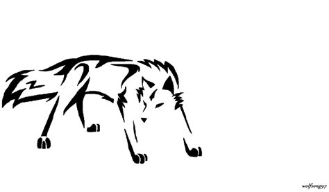 wolf outline tattoo 24 simple wolf design and ideas for tattooing
