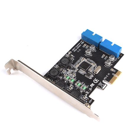 Usb Pci 20 pci express to dual 20 pin usb 3 0 pci e x1 to 2 ports