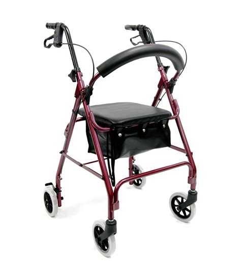 rollator with seat karman r 4100 low seat junior narrow rollator with loop