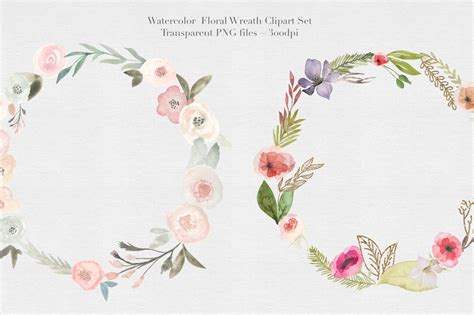 Autumn Wreaths by Watercolor Floral Wreaths Vol 1 Hey Blogger