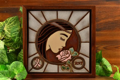 roseville pottery tile sappho 2017 the kings fortune vintage art pottery and glass