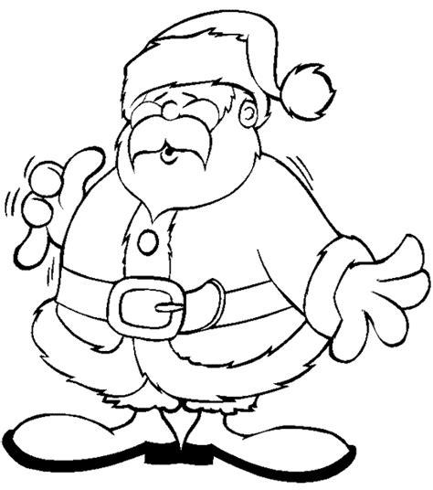 ภาพช ดฝ กระบายส ว นคร สต มาส Christmas การ ต นซานตาครอส Easy Coloring Pages Santa